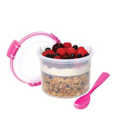 Look what I found on #zulily! Pink Two-Piece Breakfast-to-Go Container #zulilyfinds