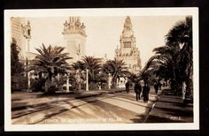 1915 Real Photo Tower of Jewels Avenue Palms PPIE Exposition California Postcard | eBay