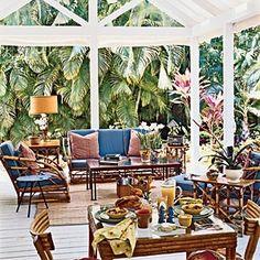 Vintage Coastal Style | Use Bamboo Furniture | CoastalLiving.com
