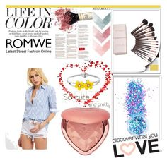 """""""ROMWE"""" by almerisaaa ❤ liked on Polyvore featuring In Your Dreams and Too Faced Cosmetics"""