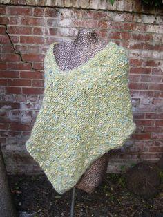 Knit asymmetrical poncho