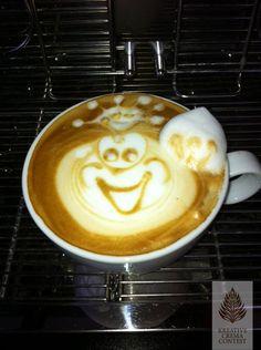 Der Froschkönig! Stimme jetzt auf unserem Creative-Crema-Contest ab. #Kaffee #Frosch #Contest