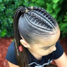 Peinados de sinta Baby Girl Hairstyles, Kids Braided Hairstyles, Princess Hairstyles, Pretty Hairstyles, Natural Hair Styles, Long Hair Styles, Braids For Kids, Toddler Hair, Love Hair