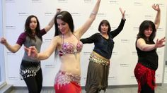 Belly dancing tutorial at the Syracuse Media Group offices