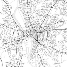 Inner city vector map of Worcester. Very detailed version for infographic and marketing projects. This map of Worcester, England, contains typical lan... ... #download #map #infographic  #marketing #travel #city #germany #german# #beautiful #map #communication #design #background #hebstreit