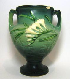 Roseville Pottery Green Freesia Vase