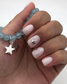 White Nails With Gold, Gold Nails, My Nails, White Nails With Design, White Shellac Nails, Nails Design, Short Nail Manicure, Short Gel Nails, Nail Nail