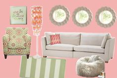 Girly Fun | Craven Inspiration: Girly Living Room