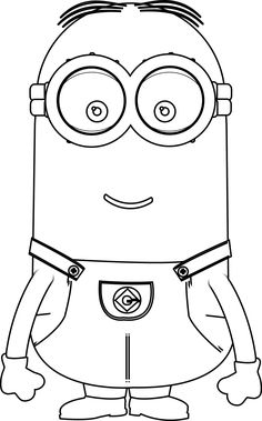 Minions Kevin Perfect Coloring Page | Wecoloringpage                                                                                                                                                                                 More