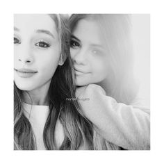 zaylena ❤ liked on Polyvore featuring selena gomez, ariana grande, manips and selena