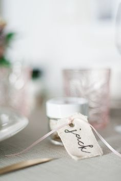 These rosemary sea salt favors are a great little take-home for your friends and family and they act as adorable place cards as well.