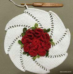 caminho de mesa e toalha cloud 9 gluten free flour - Gluten Free Recipes Thread Crochet, Filet Crochet, Crochet Motif, Irish Crochet, Crochet Designs, Crochet Doilies, Crochet Flowers, Knit Crochet, Crochet Patterns