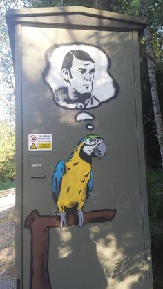 Dead parrot graffiti