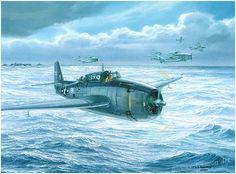 Final Approach to Home by Tom Freeman Navy Lt. (jg.) George H.W. Bush prepares to land his Grumman TBF Avenger Torpedo bomber on board the ...