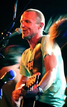 Jo Nesbø playing in a band