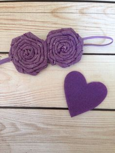 Chase Rosette Headband / purple chambray / by MyLittleNuggets