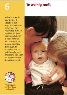 Borstvoeding, VBN, brochure. Te weinig melk. Te bestellen op: www.borstvoedingnatuurlijk.nl