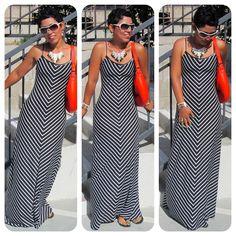 Today's Vlog + Black & White Chevron Maxi Love!  Mimi G Style: DIY Fashion Sewing