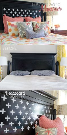 Craftaholics Anonymous® | Headboard Makeover with Silhouette CAMEO: create a new look for the bedroom