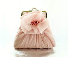 Dusty Pink Rose Purse  Size Small by HeidiCreations on Etsy