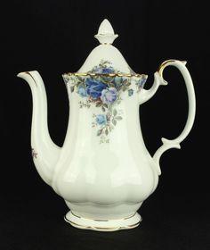 Royal Albert Moonlight Rose Coffee Pot 1st Quality VGC