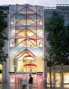 Citroen Showroom on Champs Elysees in Paris by Manuelle Gautrande Architect
