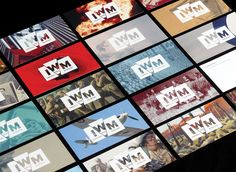 a nice identity makeover for the Imperial War Museums...love how the logo interplays with the images found in the museum...this creates both consistency and variety at the same time...