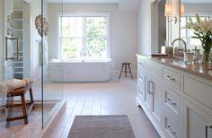 Modern Shingle Style - contemporary - bathroom - minneapolis - by Andrea Swan - Swan Architecture Custom Home Builders, Custom Homes, White Bathroom Cabinets, Shingle Style Homes, Transitional Bathroom, Dream House Plans, Dream Houses, Beautiful Bathrooms, Bathroom Renovations