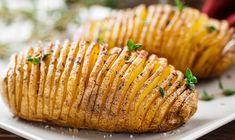 Batatas Hasselback depois de pronto.