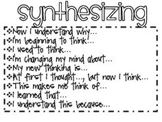 Free Sentence Stems for Comprehension Strategies and Skills