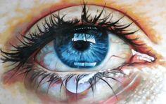 "Close up teary eye Painting Saatchi Online Artist Thomas Saliot; Gemälde ""Close up teary eye"" Thomas Saliot, Paint Photography, Eye Art, Pics Art, Oeuvre D'art, Painting & Drawing, Drawing Eyes, Creative Art, Gustav Klimt"