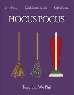 Minimalist Movie Poster for Hocus Pocus!