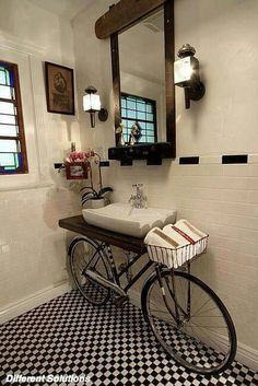 Good use of old bicycle