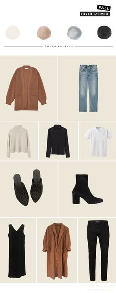 fall wardrobe challenge: 10 days, 10 items, 10 outfits