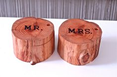 Woodland Wedding Ring Holders, Natural Wood Ring Box, Ring Bearer Box, Mr and Mrs Engagement Ring Box, 2013 Ring Box