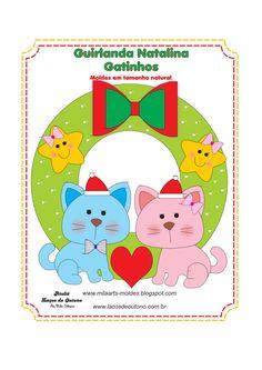 Cat felt pattern + cat sot toy pattern and tutorial Felt Animal Patterns, Felt Crafts Patterns, Fabric Crafts, Bear Felt, Felt Cat, Christmas Sewing, Christmas Crafts, Christmas Ornaments, Xmas