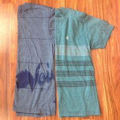 Mens volcom tee 2 pack Great set of two volcom tees. Nice soft material with volcom stones on both. Simple stripes complete both shirts Volcom Shirts Tees - Short Sleeve