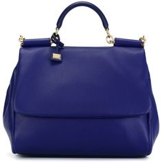 Dolce & Gabbana Large Sicily Tote ($2,595) ❤ liked on Polyvore featuring bags, handbags, tote bags, borse, blue, leather tote purse, blue leather purse, tote purse, genuine leather handbags and blue leather tote