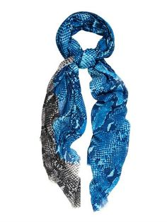 DVF gives precious python a colourful update with this printed modal scarf.