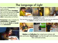 The language of light - light table. Play Based Learning, Learning Through Play, Early Learning, Learning Spaces, Early Education, Childhood Education, Montessori, Learning Stories Examples, Reggio Documentation