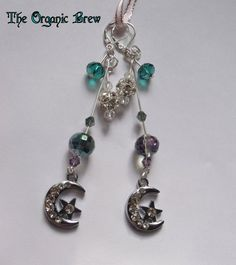 Mystic Witch Dangle Earrings with Swarvorski by The OrganicBrew