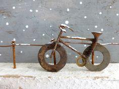 bike with sawblade wheels sculpture - Google Search