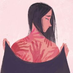 Being physically abused should NEVER BE JUSTIFIED! Whether it's your boyfriend, husband, stranger, or father, don't let your pain and hurt… Graphic Design Illustration, Graphic Art, Illustration Art, Art Sketches, Art Drawings, Inspiration Artistique, Vent Art, Feminist Art, Artists