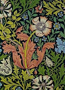 Arts and crafts movement William Morris; beautiful botanical pattern. Museum of Modern Art.