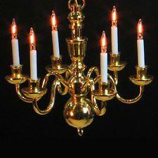 Casa De Muñeca lámparas Luces Lámparas Casa de muñecas de 12 voltios luz eléctrica 1:12 Escala
