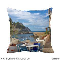 Porticello, Sicily Throw Pillow
