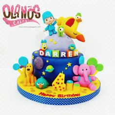 Queque Pocoyo Boys First Birthday Cake, Birthday Parties, Just Cakes, Space Theme, Beautiful Cakes, Birthday Decorations, First Birthdays, Cupcake Cakes, Party Themes