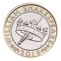 This 'Histories' £2 coin is one of three UK £2 coins which mark the 400th anniversary of the death of William Shakespeare in 2016.