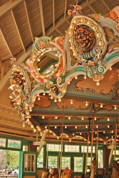 Vintage carousel in Glen Echo Park.  Photo by Caroline Richmond, YA Writer
