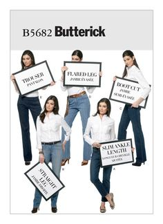 Butterick B5682 jeans sewing pattern